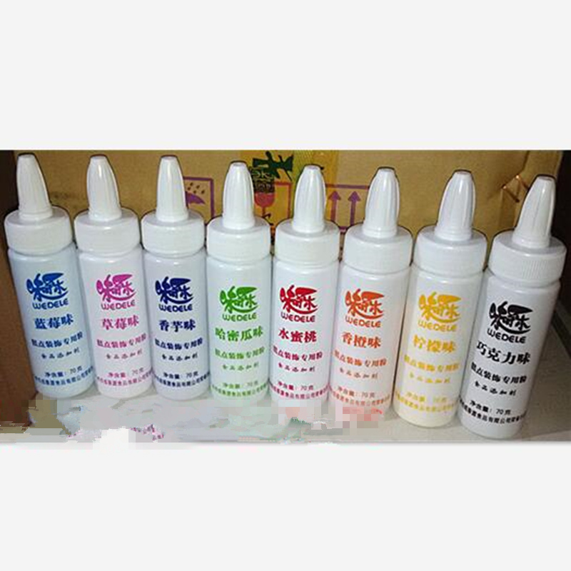 8 colores polvo comestible/pigmento concentración alta/crema pastel panadería tóner