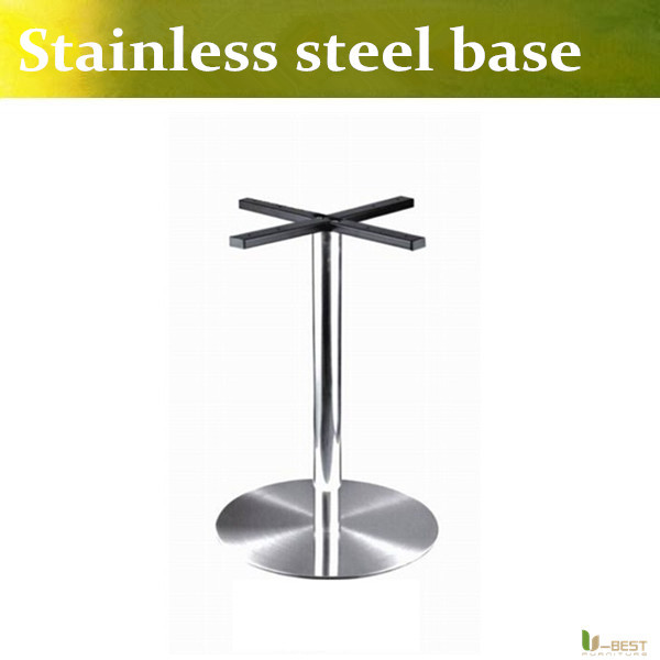 U-BEST Negotiate table legs chassis,Stainless Steel Round Table Base XL Circular Stainless Steel Table Base