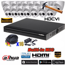 Dahua HCVR5116HS-S3 8ch CVI Security Camera System 2Megapixel 1080P HAC-HDW1220EM-A Waterproof HDCVI IR Eyeball audio Camera