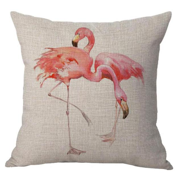 Manufacturers Direct Supply Chair Flamingo Cushion Cover Decor Pink Flamingo  Pillow Cover For Home Free Shipping