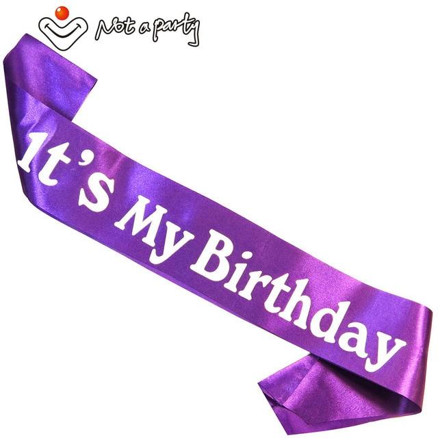 7pcs Birthday Gift For Women Party Decoration Happy Birthday Sash