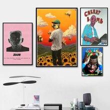 Печать плакатов Тайлер создатель цветок мальчик Игор рэп музыкальный альбом звезда искусство холст живопись настенные картины гостиная домашний декор