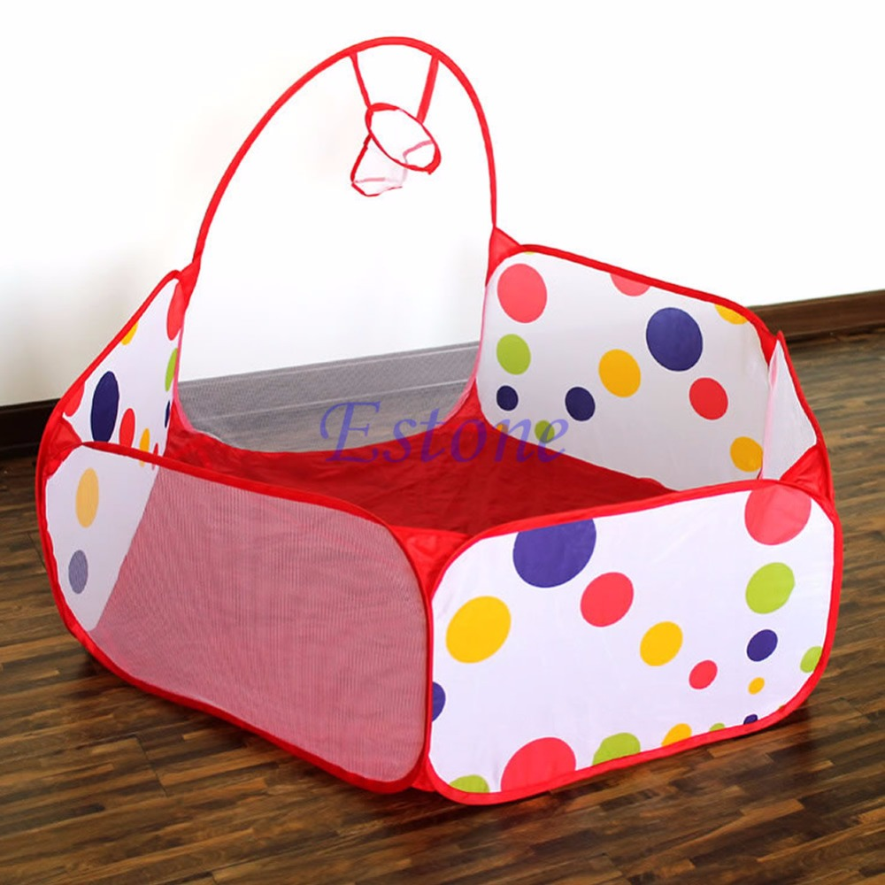 Portable Kids Room Childrens Ocean Ball Pit Pool Playhut Outdoor Indoor Toy Tent