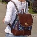 Nova Upscale boutique das mulheres mochila de Lona Do Vintage estilo étnico retro couro pu bolsa de ombro Mochila de Viagem