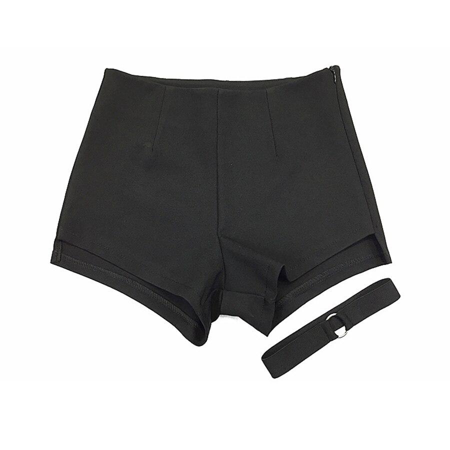 Summer Shorts Women High Waist Sweatpants Rave Fitness Short Feminino Booty Shorts Sexy Korean Hotpants Black Shorts 50F0099