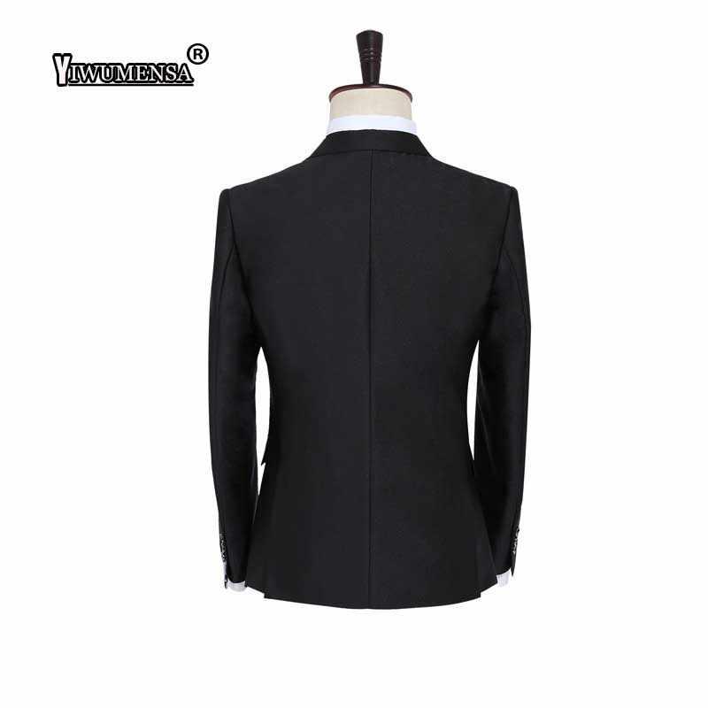 Yiwu Для мужчин sa best продажи 2018 Custom Бизнес Для мужчин костюмы итальянские Черные Вечерние Нарядные Костюмы для свадьбы для Для мужчин Жених костюм Для мужчин костюм-смокинг