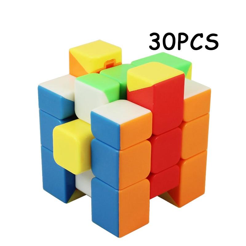 30 PCS MoYu Inégale 3x3x3 Magique cube Magique cube Vitesse Twist Puzzle Trois-couches Cubo magico L'éducation Jouets Pour Enfants Neo Cube