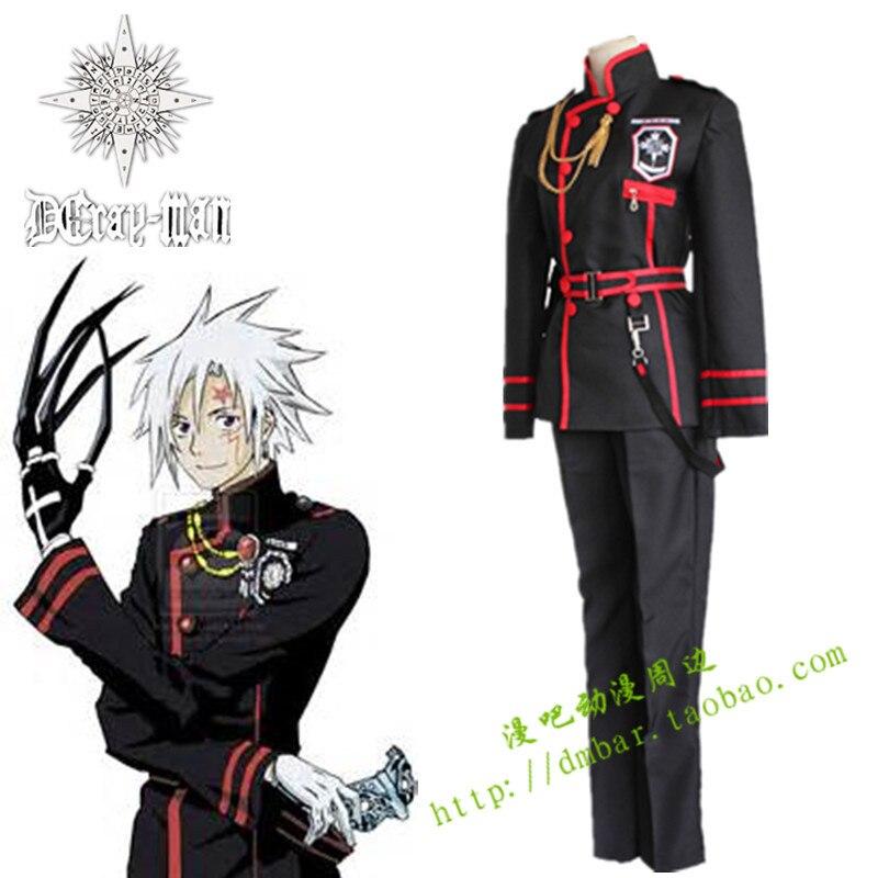 Anime D.Gray-man Cosplay Allen Walker Costume Halloween Costumes Women Dress Men  Full set Uniform Suit