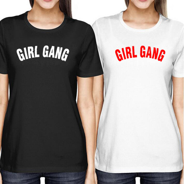 Girl Gang Tshirt Local Girl Gang Feminist Fashion Tumblr Cotton T-shirt Best Friend Sister Tee Shirt Black White T Shirt Femme