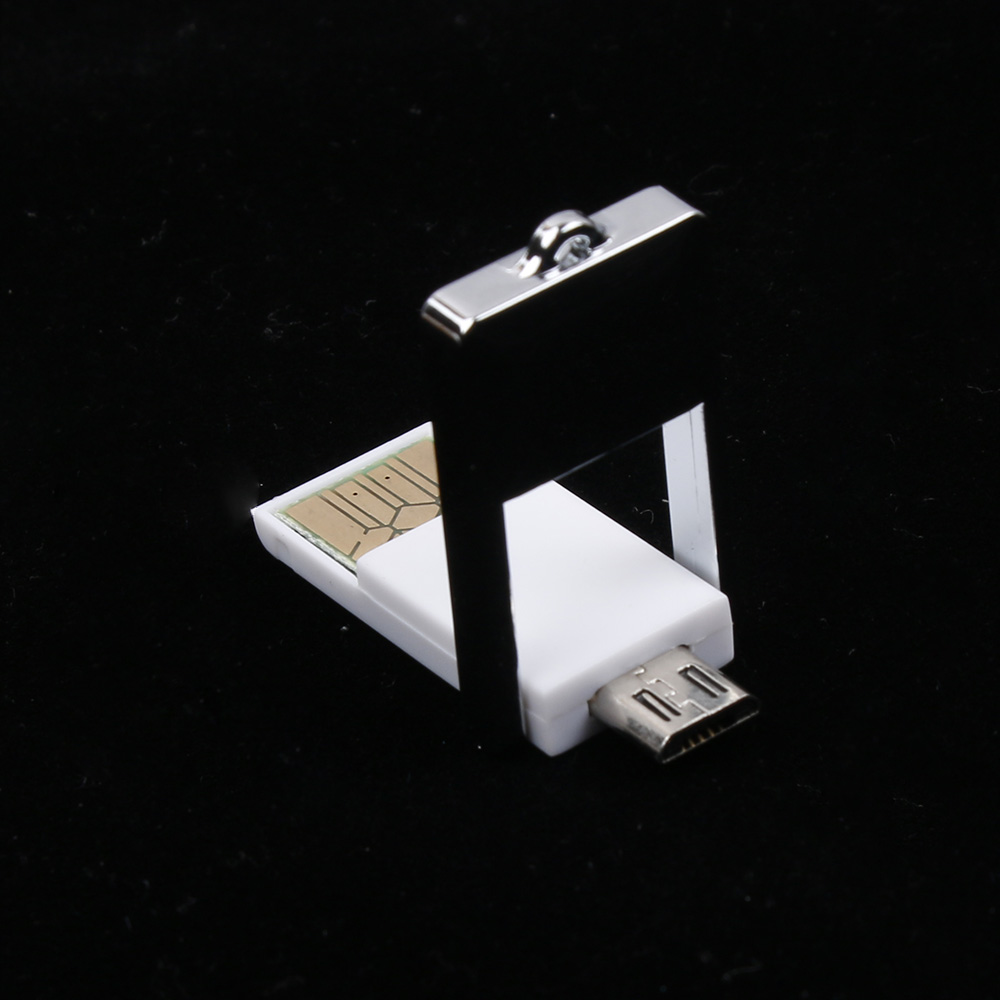 HOT Useful Mini 2 In 1 Micro USB 2.0 OTG Adapters + Micro SD TF Card Reader for PC