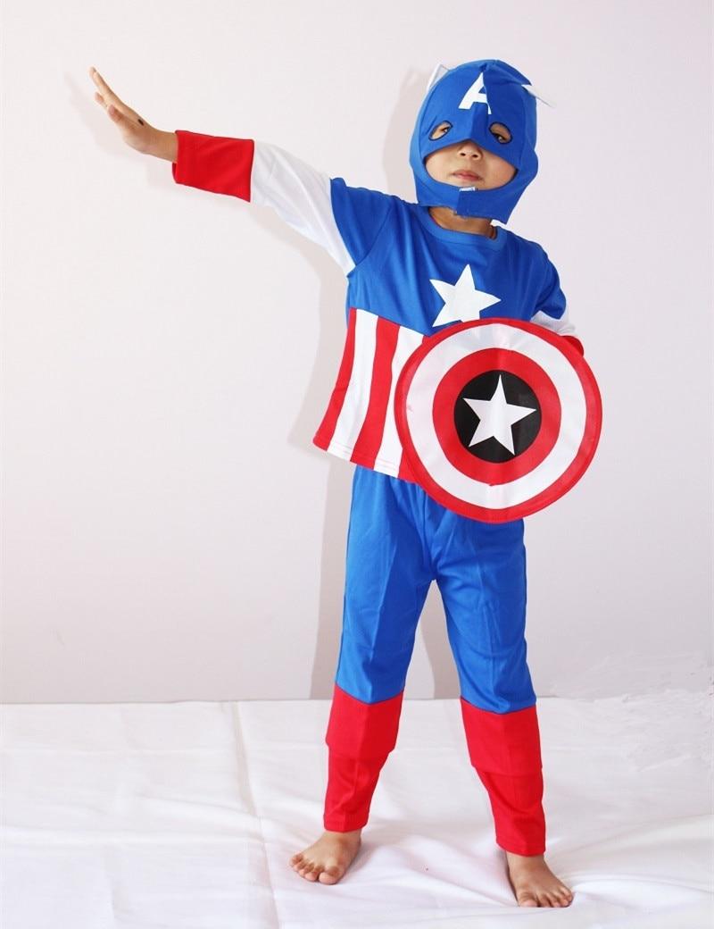 Shield Cosplay Costume Halloween Costume for Kids Role Play Superhero Superman Cosplay Avengers Costume 3-7 Years