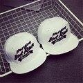 2015 Новый Дизайн Звезда Черные Буквы Белая Бейсболка Женщин мужчины Плоским Полями Хип-Хоп Snapback Шапки Gorras Баскетбол Спортивная Cap