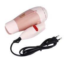 Mini Portable Foldable Handle Compact 1000W Hair Dryer Blow Dryer Hot Wind Low Noise Long Life for Outdoor Traveldropshiping kemei km 6830 portable mini hair dryer low noise evenly hot wind collapsible travel hair dryers 220v compact hair dryer 1200w