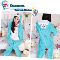 Vận Chuyển miễn Phí Flannel Fleece Doraemon Cosplay Costume Animal Suits Onesie Pyjamas Đồ Ngủ Đồ Ngủ Ăn Mặc Một Mảnh Quà Tặng