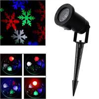 Christmas Snowflake Laser Lights Snow LED Landscape Light Outdoor Holiday Garden Decoration Projector Moving Pattern Spotlight