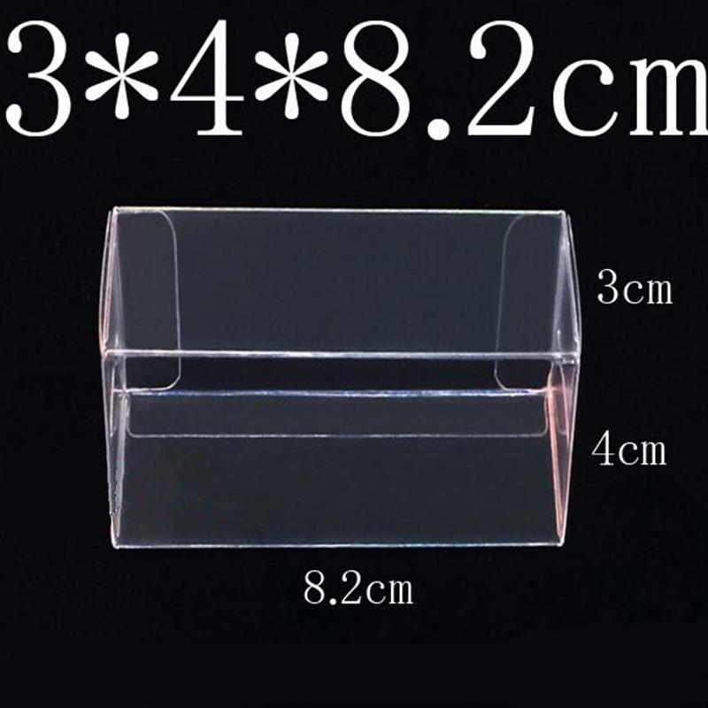 82*40*30mm pvc transparente, caixa de brinquedo tomy, carro, modelo 1/64 tomica, rodas quentes, exibição à prova de poeira caixa de proteção 100 peças