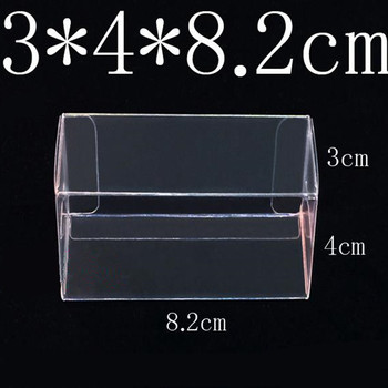 82*40*30mm PVC Clear MATCHBOX TOMY Toy Car Model 1/64 TOMICA Hot Wheels Dust Proof Display Protection Box 100PCS