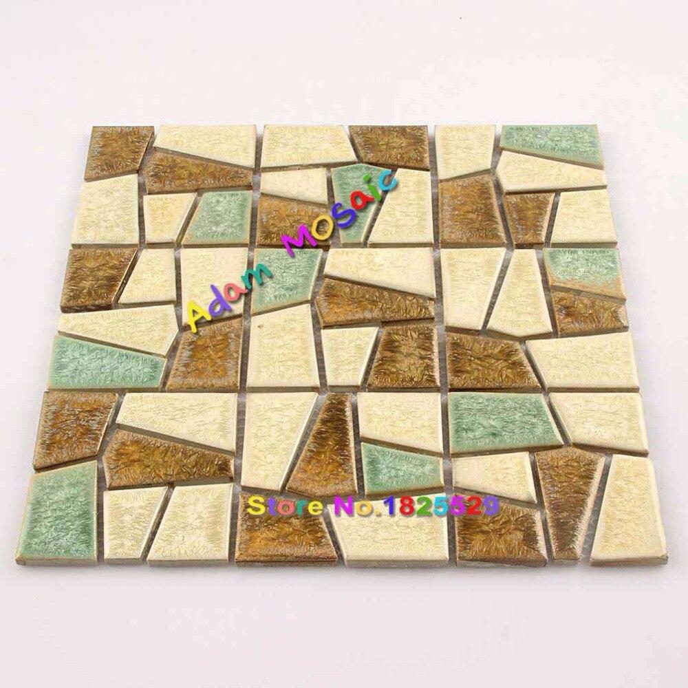 Ceramic Wall Mosaic Tiles Subway Backsplash Porcelain Tile Irregular ...