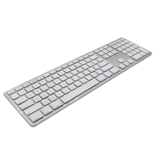 GuHo Ultra Slim Bluetooth Wireless Keyboard 104 Keys for Apple iOS ipad Keyboard Android Windows Notebook Gaming Home Office