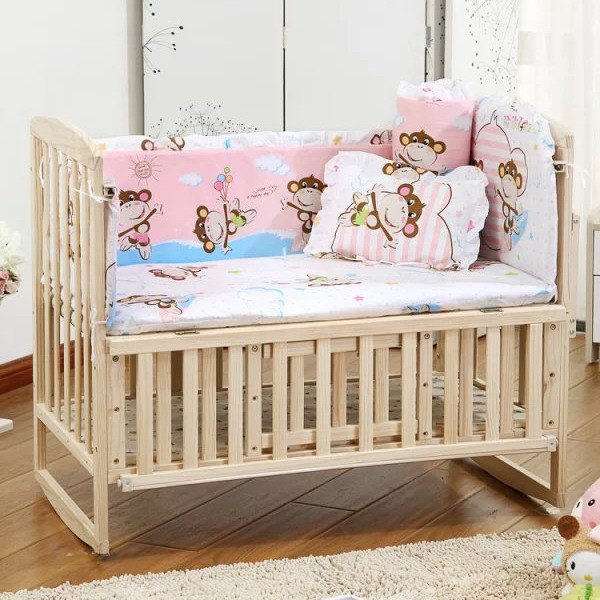 e85b15c368e1 Dropwow 5PCS Newborn Baby Bedding Set For Girl Boy Baby Crib Bedding ...