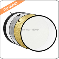 32 80cm 5 In 1 Collapsible Light Round Photography Reflector Light Diffuser For DSLR Photo And