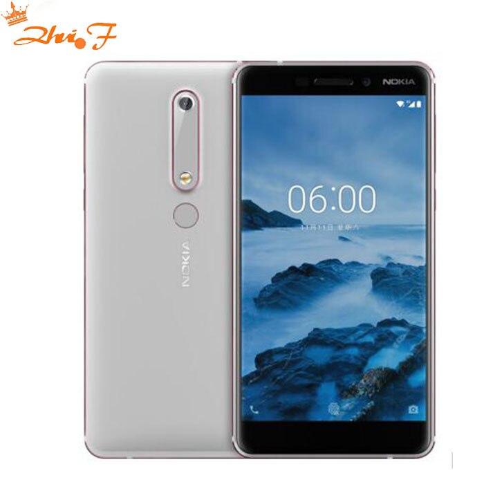 2018 Nokia 6 Deuxième génération 2th TA-1054 4g 64g Android 7 Snapdragon 630 Octa core 5.5 ''FHD 16.0MP 3000 mah Mobile téléphone
