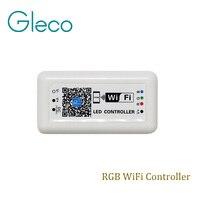 DC12V-24V MINI WIFI LED RGB Controlador para Iphone, Ipad, IOS/Android Telefone Móvel de controle Sem Fio para RGB luz de Tira CONDUZIDA