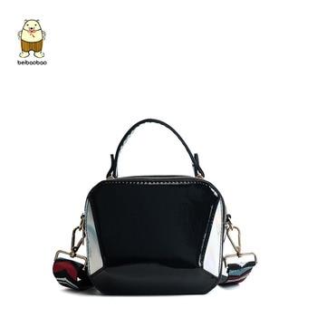 Beibaobao 2018 New Handbag Lady Pu Leather Women Messenger bags Fashion Shoulder Bag Female  Star Crossbody Flap Design Bags shoulder bag