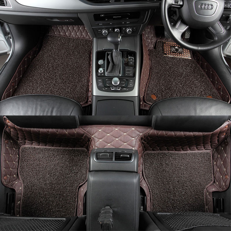 Custom fit car floor mats for Mercedes Benz A C S G W204 W205 E W211 W212 W213 S class Two layers of leather car-styling liners