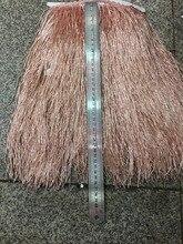stock tassel  5 yards/bag ym301# Rose gold 30cm tubular bead for sawing dress fringe trim alibaba express