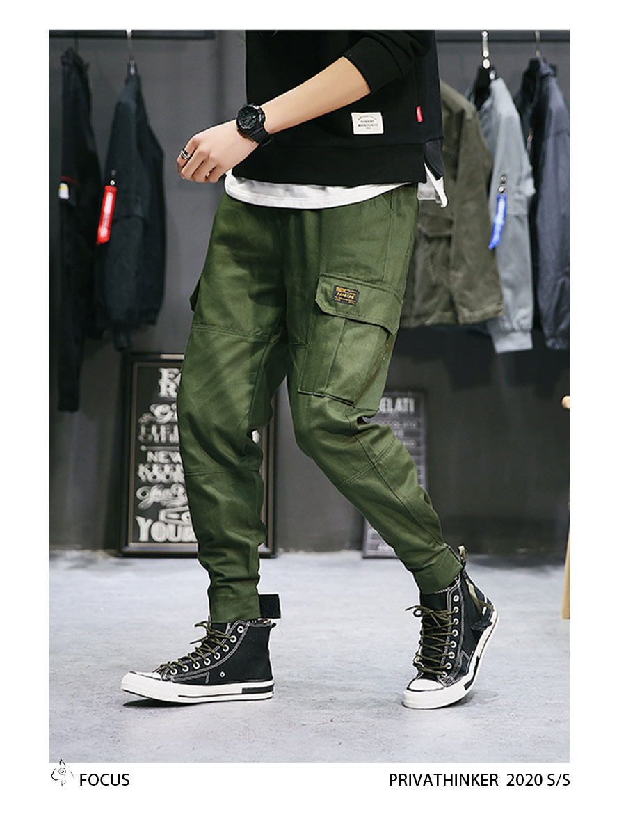 Privathinker Cargo Pants Men 2020 Mens Streetwear Joogers Pants Black Sweatpant Male Hiphop Autumn Pockets Trousers Overalls 65