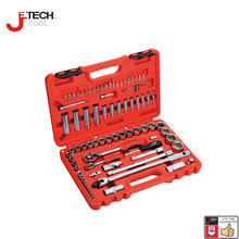 Jetech 79pcs 1 4 1 2 dr metric combination hand tool car wrench set sleeves mechanics