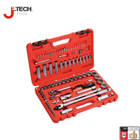 Jetech 79pcs 1/4 1/2 dr. metric combination hand tool car wrench set sleeves mechanics socket spanner kit ferramentas 6 point