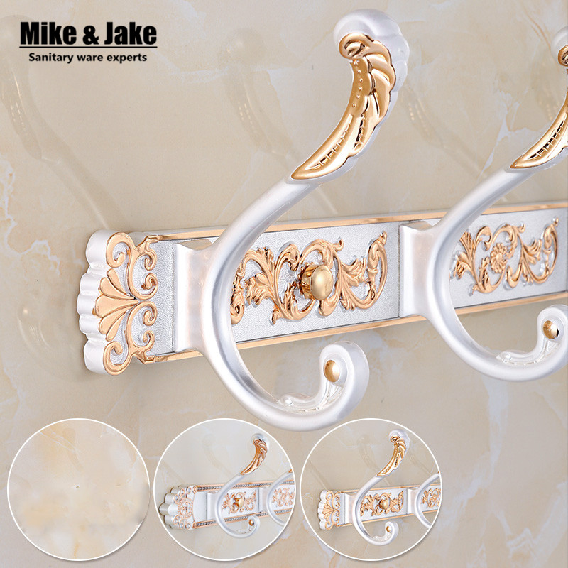 Free Shipping Bathroom wall Carving ivory white color robe hooks 4-5 Row Hook coat hanger door hooks for bathroom accessoriesFree Shipping Bathroom wall Carving ivory white color robe hooks 4-5 Row Hook coat hanger door hooks for bathroom accessories