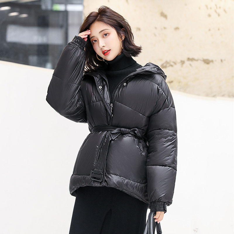 Winter Jacket Women Ultra Light 90% White Duck   Down   Parkas 2019 Female   Coat   With Belt Slim Warm Winter   Coat   Parka Waterproof