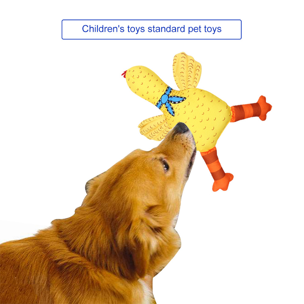 Electric Plush Crazy Chicken With Lights Sound Music High Quality Fiber Cotton Filled Yellow Chicken Toy Durable Material