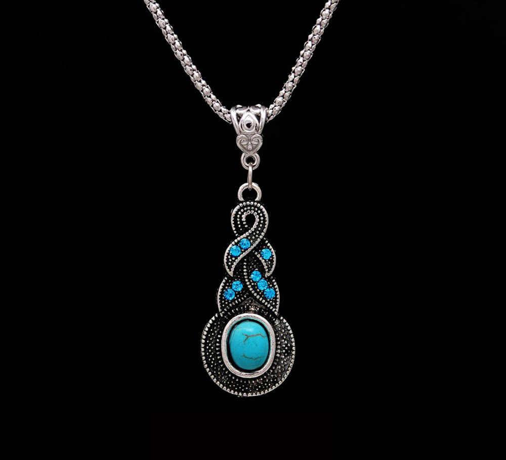 Bohemian Tibetischen Silber Farbe Afrikanische Perlen Schmuck Sets für Frauen Hochzeit Kostüm dubai Schmuck-Sets Kristall Halskette Ohrringe