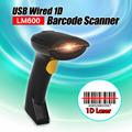 Free Shipping! Portable 1D Barcode Scanner Laser Scan Handheld USB Wired Laser Scan Barcode Bar Code Scanner Reader POS Decoder