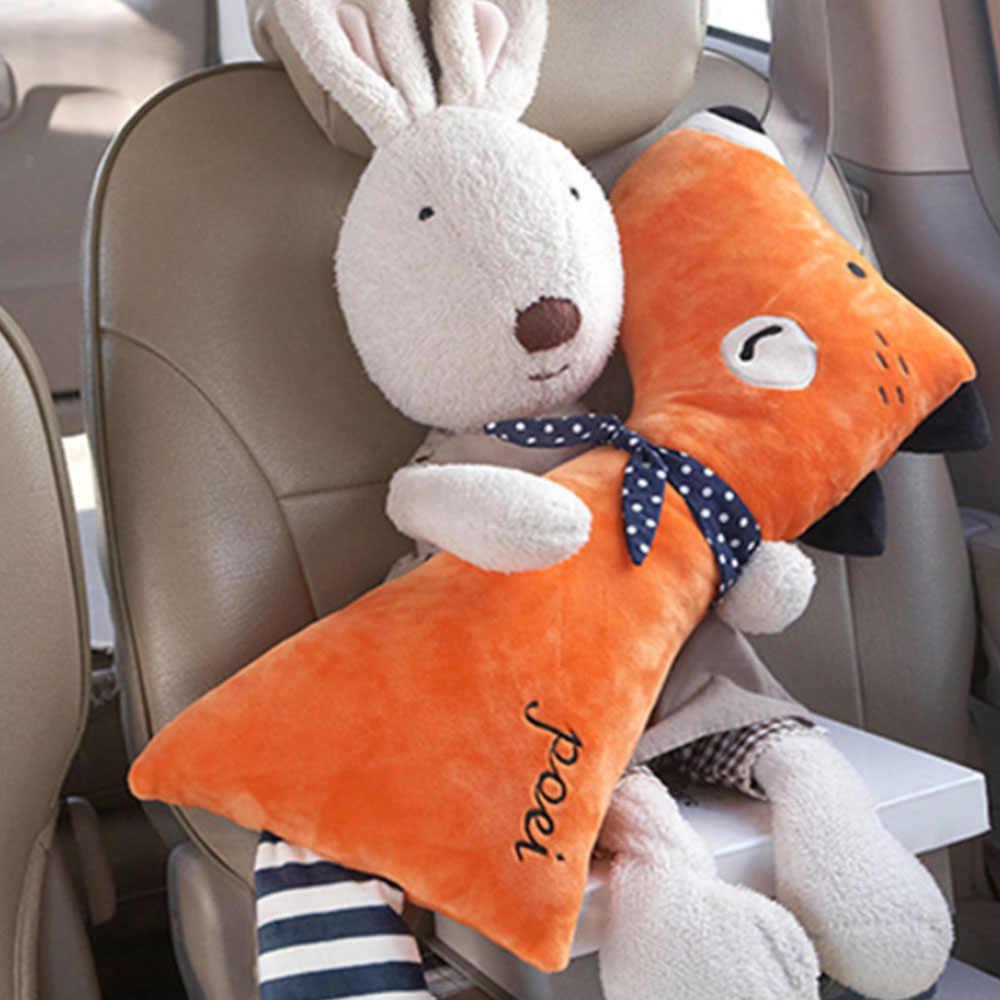 Cubierta del cinturón del asiento del coche del bebé linda de la historieta de los niños de La felpa almohadillas de hombro almohadillas de seguridad del posicionador de la cintura del cojín del estilo
