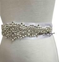 ShinyBeauty Cristallo Applique Strass Sash Nuziale Della Cinghia Diamante Applique Abito Da Sposa Sash Decorazione RA109