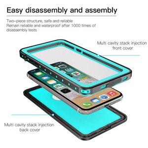 Image 5 - 100% su geçirmez çanta için iPhone X XS 7 8 artı darbeye dayanıklı yüzme dalış kapak iPhone X için sualtı koruyucu 7p 8 p Coque
