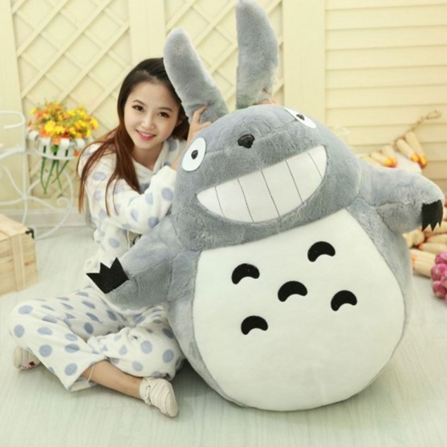 TV Movie Character 80cm 20cm Lovely My Neighbor Totoro Plush Toy Smiling Soft Stuffed Toys Doll Totoro For Kids Birthday Gift 1pcs 20cm my neighbor totoro cartoon plush toy totoro stuffed animal soft doll girl gift kids toy popular toy free shipping