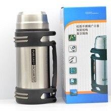 800 ML/1000 ML/1500 ML/1800 ML Gran Volumen de metal de acero inoxidable Frascos de Vacío termo botella para el agua con un cepillo