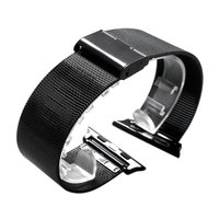Black Stainless Steel Mesh Band Bracelet For Apple Watch 38mm 42mm Watchband For IWatch Milanese Loop