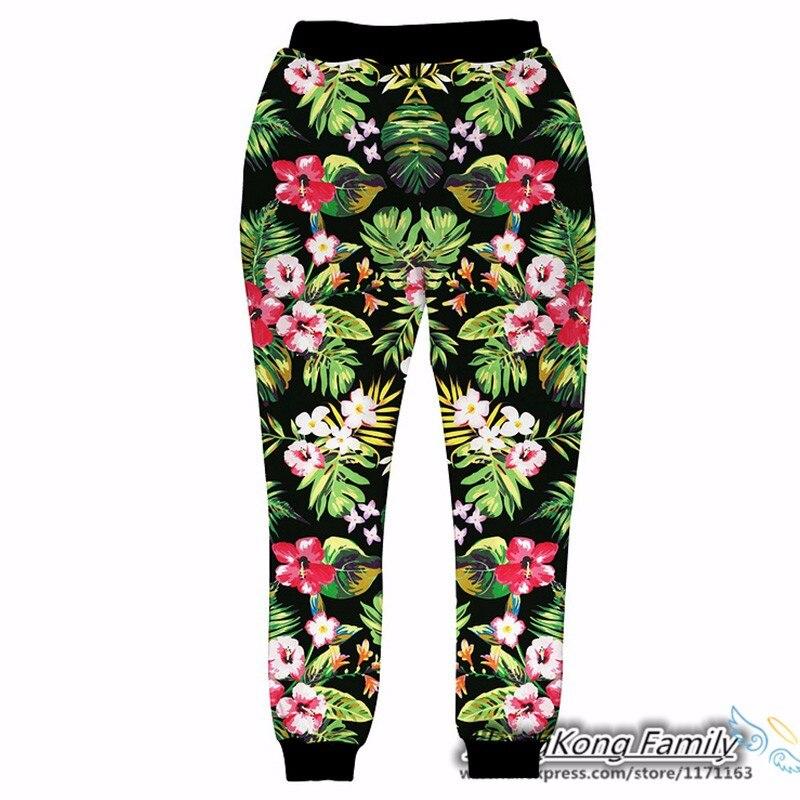 ツ)  ¯2018 nuevo hip hop Pantalones hombres mujeres floral ... a3a72123e8a