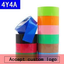 [4Y4A] 2 рулона цвета ленты 75 м красный желтый синий зеленый черный и белый широкий скотч посылка герметизация прозрачный