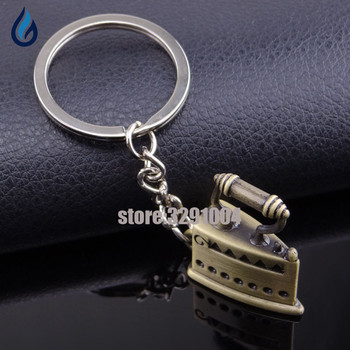 Creative Clothes Iron Key Chain Bag Car Key Ring For Hyundai Ix35 Solaris Peugeot 406 Smart Fortwo Bmw E30 Opel Keychain Keyring image