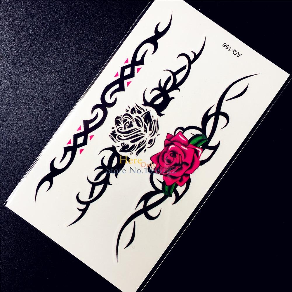 Temporary Black Henna Tattoo: Black Henna Temporary Disposable Tattoo Sticker Lace