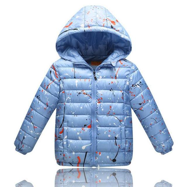 6-12 Years Children Autumn Winter Jackets Fashion Lightweight Outwear Hooded kids Boys Girls Down Cotton Outwear 4 Colors