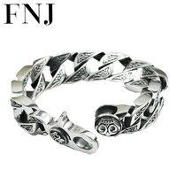 17 мм коробка большая сеть мужской s925 одноцветное серебряный браслет из чистого 925 Серебро Браслеты Мужчины ювелирные изделия HKB17